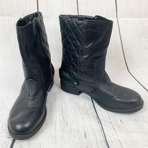 Kenneth Cole Reaction Black Quilted Leather Boots